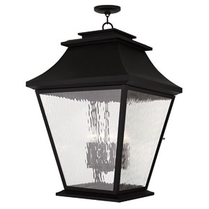 Hathaway Black 21-Inch Six-Light Outdoor Chain Hang Pendant