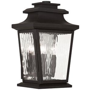Hathaway Bronze 10-Inch Three-Light Tall Outdoor Wall Lantern
