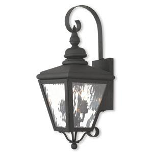 Cambridge Black 8.5-Inch Two-Light Outdoor Wall Lantern