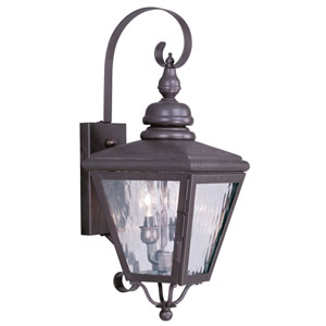 Cambridge Bronze Two-Light Outdoor Wall Light