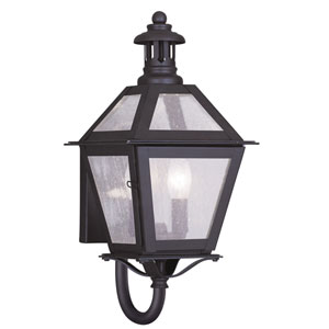 Waldwick Bronze Two-Light 16-Inch Outdoor Wall Lantern