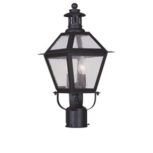 Waldwick Bronze Two-Light Outdoor Post Mount