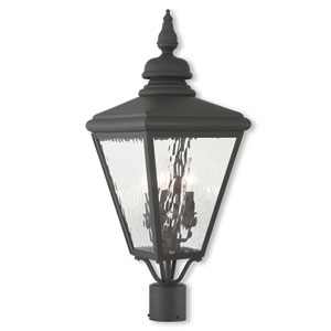 Cambridge Black Three-Light Post-Top Lantern