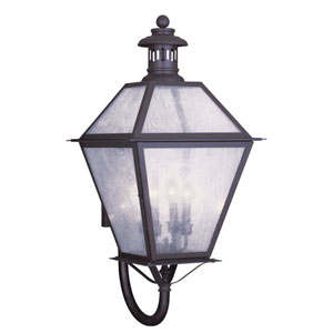 Waldwick Bronze Four-Light Outdoor Wall Lantern