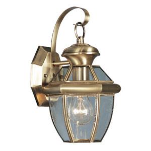 Monterey Antique Brass One-Light Outdoor Fixture