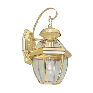 Monterey Polished Brass One-Light Outdoor Fixture