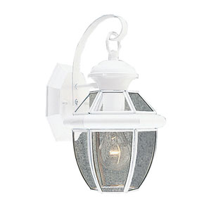 Monterey White One-Light Outdoor Fixture
