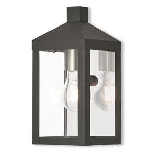Nyack Black 5-Inch One-Light Outdoor Wall Lantern