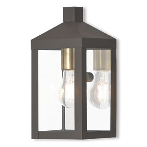 Nyack Bronze 5-Inch One-Light Outdoor Wall Lantern