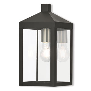 Nyack Black 6-Inch One-Light Outdoor Wall Lantern