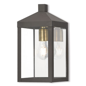 Nyack Bronze 6-Inch One-Light Outdoor Wall Lantern