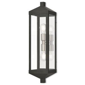 Nyack Black 6-Inch Two-Light Outdoor Wall Lantern