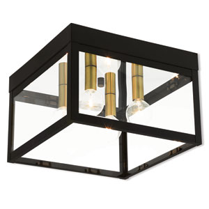 Nyack Bronze 11-Inch Four-Light Outdoor Ceiling Mount