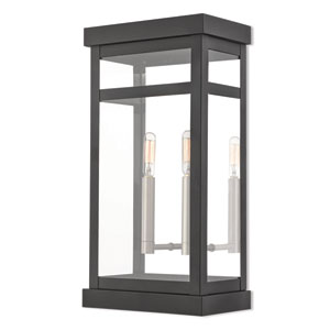Hopewell Black 18-Inch Two-Light Outdoor Wall Lantern