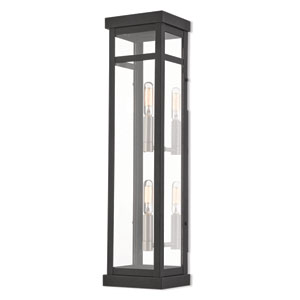Hopewell Black 22-Inch Two-Light Outdoor Wall Lantern