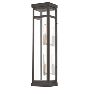 Hopewell Bronze 22-Inch Two-Light Outdoor Wall Lantern