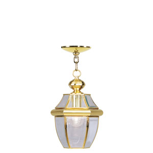 Monterey Polished Brass One-Light Outdoor Pendant