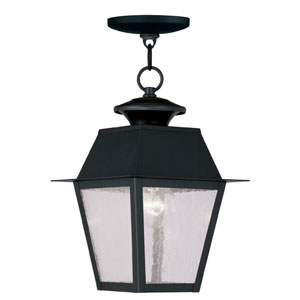 Mansfield Black Outdoor Pendant