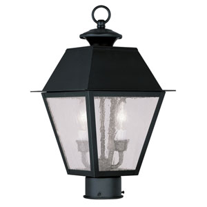 Mansfield Black Two-Light Outdoor Post Head