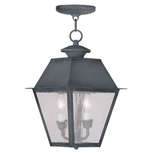 Mansfield Charcoal Two-Light Outdoor Pendant