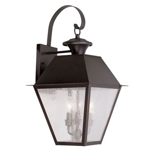 Mansfield Bronze Three-Light Outdoor Wall Lantern