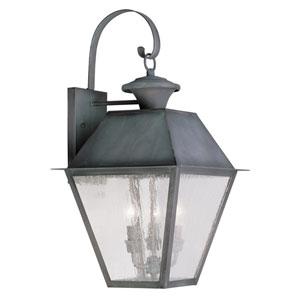 Mansfield Charcoal Three-Light Outdoor Wall Lantern