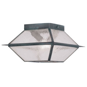 Mansfield Charcoal Two-Light Outdoor Ceiling Mount
