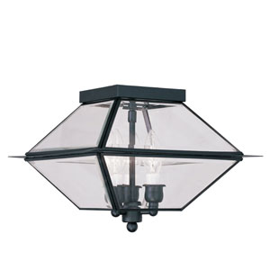 Westover Black Three-Light Outdoor Ceiling Mount