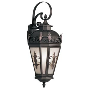 Berkshire Bronze Three-Light Outdoor Wall Light