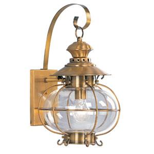 Harbor Flemish Brass One-Light Outdoor Fixture