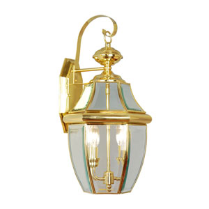 Monterey Polished Brass Two-Light Outdoor Fixture
