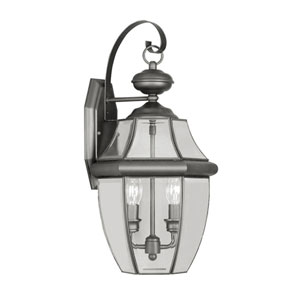 Monterey Black Two-Light Outdoor Fixture