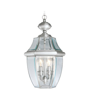 Monterey Brushed Nickel Two-Light Outdoor Fixture