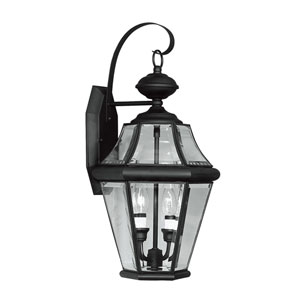 Georgetown Black Two-Light Outdoor Fixture