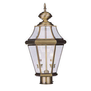 Georgetown Antique Brass Two-Light Outdoor Post Mount