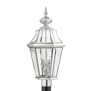 Georgetown Brushed Nickel Two-Light Outdoor Fixture