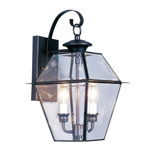 Westover Black Two-Light Outdoor Fixture