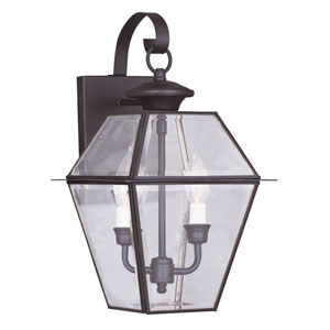 Westover Bronze Two-Light Outdoor Wall Lantern