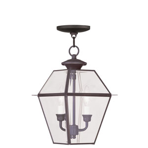 Westover Bronze Two-Light Outdoor Pendant