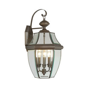 Monterey Bronze Three-Light Outdoor Fixture