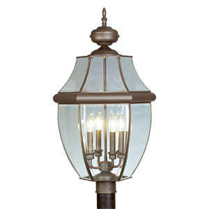 Monterey Bronze Four-Light Outdoor Fixture
