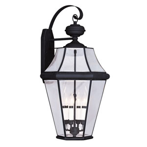Georgetown Black Four-Light Outdoor Wall Lantern