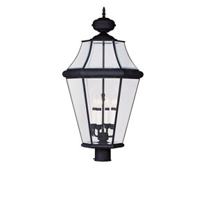 Georgetown Black Four-Light Outdoor Post Mount