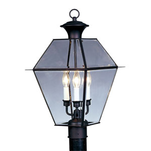 Westover Black Three-Light Outdoor Fixture