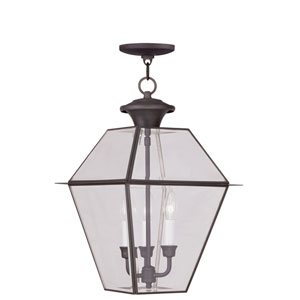 Westover Bronze Three-Light Outdoor Chain Hang