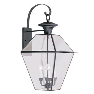 Westover Black Four-Light Outdoor Wall Lantern