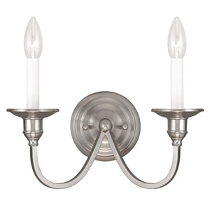 Cranford Brushed Nickel Two Light Wall Sconce