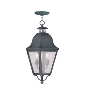 Amwell Charcoal Two-Light Outdoor Pendant