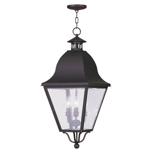 Amwell Bronze Four-Light Outdoor Pendant