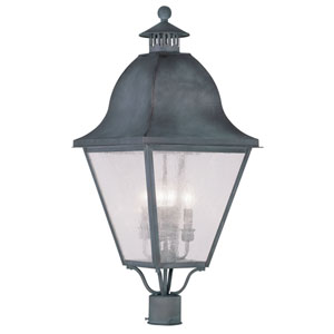 Amwell Charcoal Four-Light Outdoor Post Head